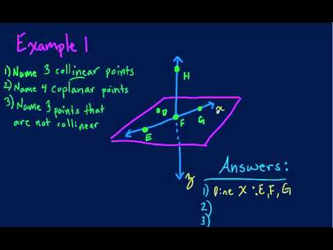 Points Lines Planes Example 1