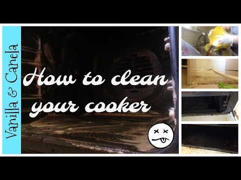 How to clean your oven/stove top - Disgusting Cooker