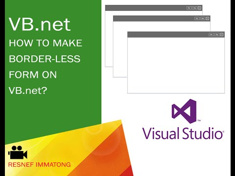 How to make a border-less form on VB.net? Customize your own windows forms.
