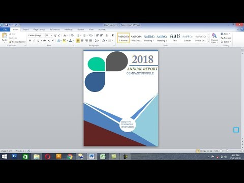 How to make beautiful book cover in MS word