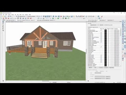 Building A Covered Deck & Exposed Gable Beams Using Chief Architect