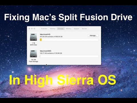 Fixing a split Fusion Drive on a Mac with High Sierra MacOS