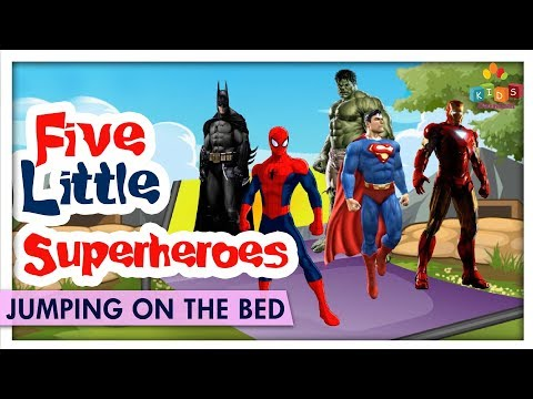Five Little Superheroes Jumping on the Bed - Hit Nursery Rhyme & Songs For Children - Kids Carnival