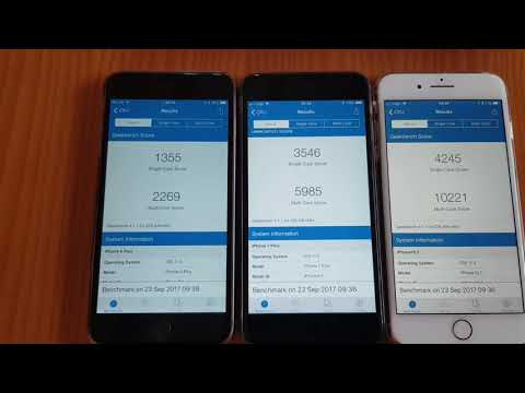 iPhone 8 plus Geekbench score comparison