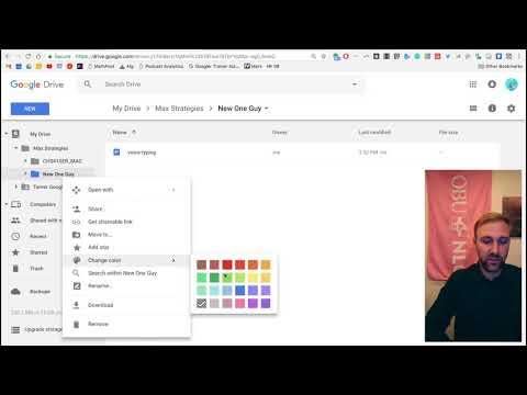 Organizing Folders // Google Drive