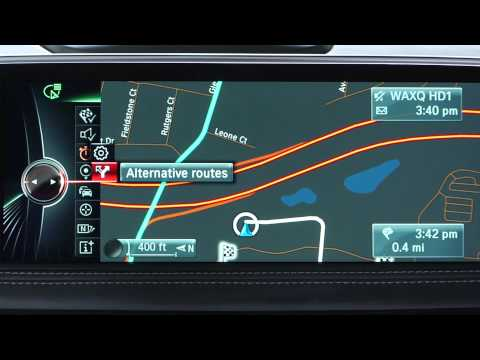 View and Choose Alternative Routes | BMW Genius How-To
