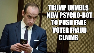 Trump Unveils New Psycho-Bot To Push Fake Voter Fraud Claims But No Mention Of Election Fraud