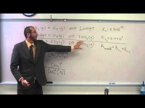 Writing the Reaction Quotient (Qc) and Finding Koverall for a Reaction 001