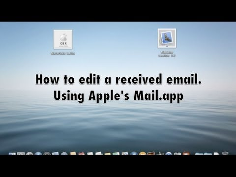 T Apple Tutorial How To Edit Received Email