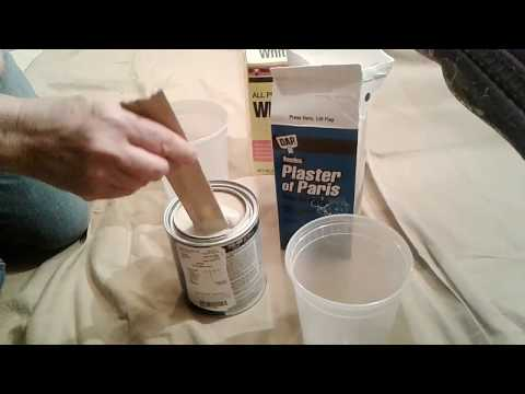 How to make Chalk Paint with Plaster and Calcium Carbonate Whitewash Lime DIY recipe