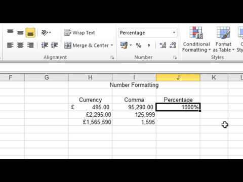 Excel 2010 Tutorial For Beginners #6 - Number Formats (Microsoft Excel)