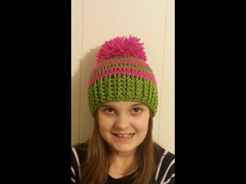 CROCHET How to #Crochet Ribbed Striped Beanie Hat #TUTORIAL #151 LEARN CROCHET