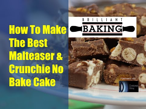 How To Make The Best Malteser & Crunchie No Bake Cake - The Brilliant Baking Show