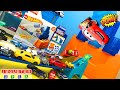 DISNEY CARS HOT WHEELS BARREL BOX CHALLENGE Carros de Carrera para niños  Pista de Coches