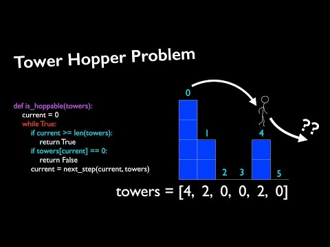 Coding Interview Question: Tower Hopper Problem