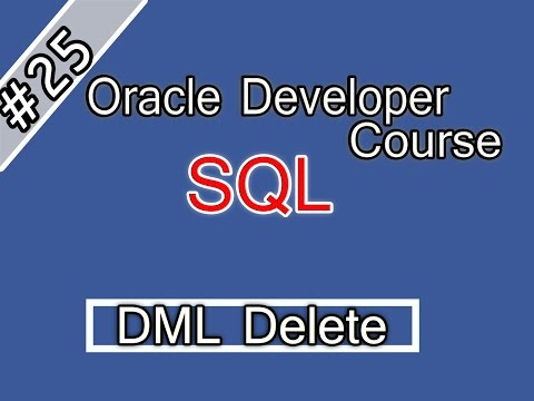 025- Oracle SQL Arabic Course -DML - Delete  اوراكل ديفلوبر
