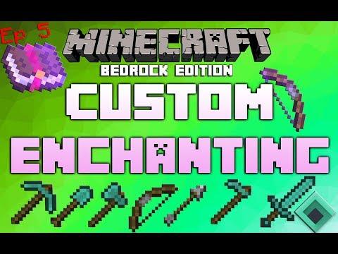 Modding Minecraft Bedrock Editon [Ep 5 Custom Enchanting]