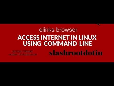 How to access internet through command line in Linux