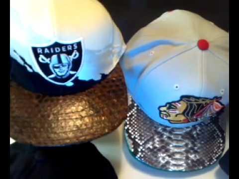 Customize snakeskin snapback HATS! !!!!