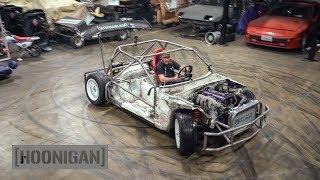 [HOONIGAN] DT 211: $200 Miata Build [Part 10] Shartkart Rips The Shop Apart #DANLINE