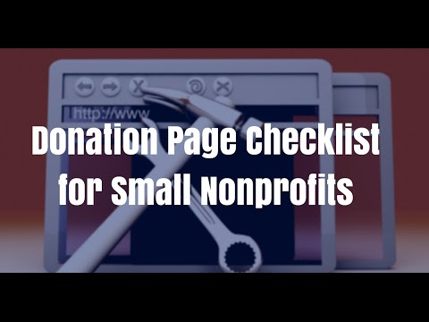 Donation Page Checklist for Giving Tuesday