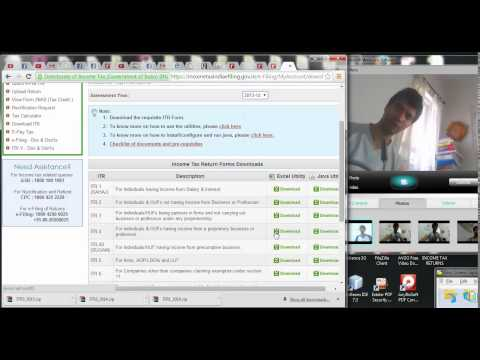 727 (Income Tax) How to select and download ITR 4 Income tax Excel return