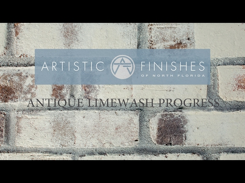 Antique Limewash on brick by Artistic Finishes
