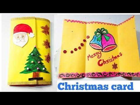 DIY: How to make easy and simple Christmas greeting card | kids Christmas Craft