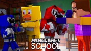 Minecraft School - POWER RANGERS, BOSS BABY, HELLO NEIGHBOUR, FNAF FIGHT!