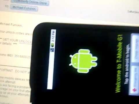 HTC Dream Unlock with GSMLiberty net Service
