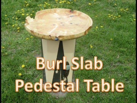Boxelder Burl Top Pedestal Table (Part 2)