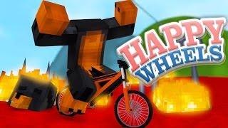 Minecraft HAPPY WHEELS - MY HEAD FALLS OFF - Donut the Dog Minecraft Gaming
