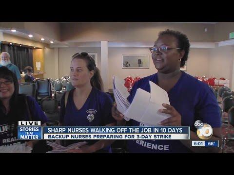 Sharp nurses walking off the job in 10 days