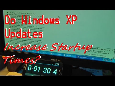 Are Windows XP Boot Times Affected by Updates?