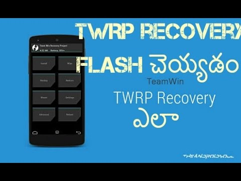 How to flash twrp/cwm recovery without computer