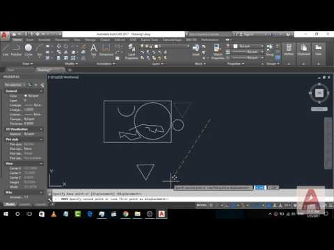 How to use Move, Copy and Erase Commands in AutoCad 2017 | AutoCad Command Tutorial