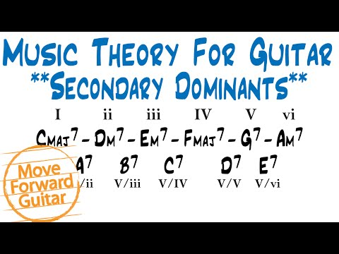 Music Theory for Guitar - Chord Progressions with Secondary Dominants