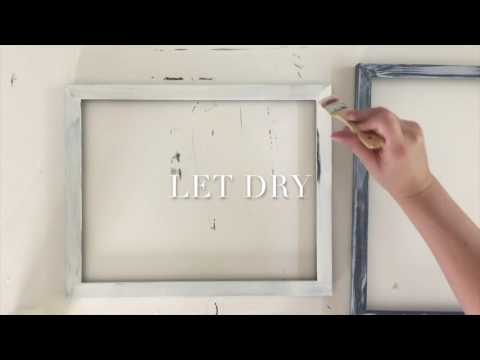 Easy Painted and Distressed Frames