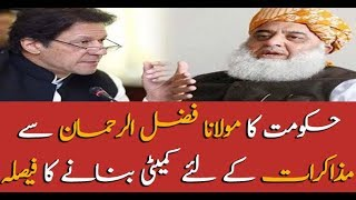 Government decides to form committee for talks with Maulana