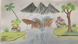 How To Draw A Village Scenery : How To Draw
