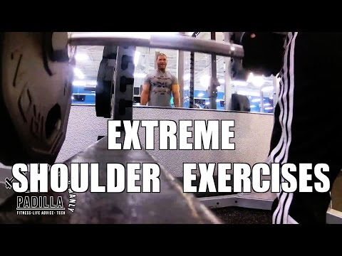 SHOULDER EXERCISES FOR HUGE LOOKING ARMS