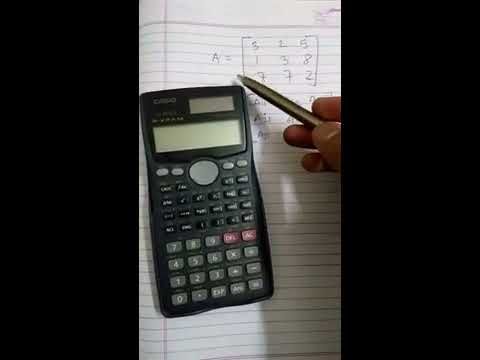 how to find inverse of matrix by using CASIO fx 991MS calculator