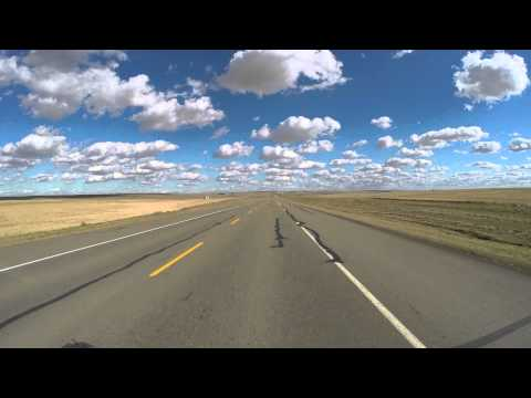 Timelapse roadtrip from Waterton - Calgary - Drumheller in Canada