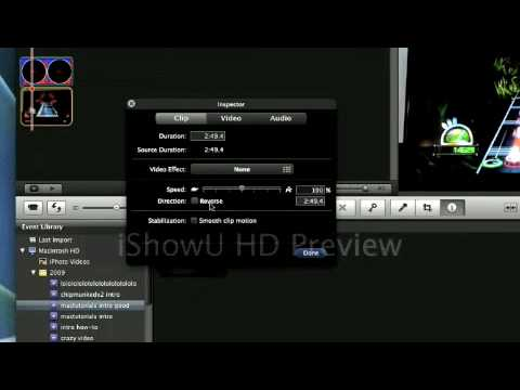 How to play any video backwards with imovie 09