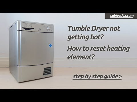 How to reset tumble dryer heating element thermostat if not getting hot (hotpoint/Insesit/Creda)