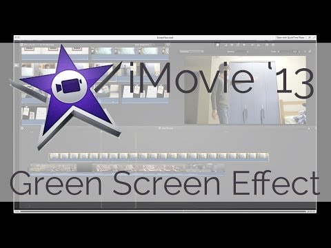 iMovie '13: How to do a Green Screen Effect