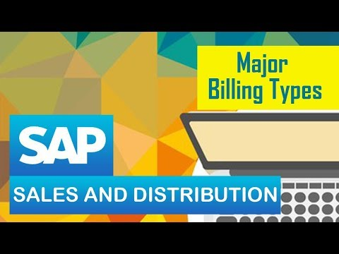 SAP SD | Billing Process in SAP | Major Billing Types | Customizing the Billing Documents- Part 1