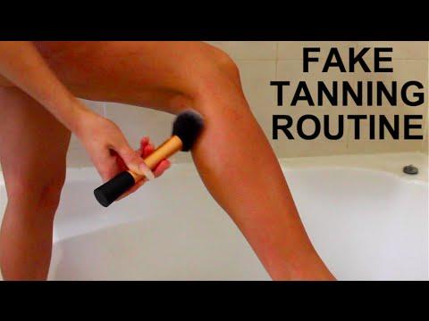 FAKE/SELF TANNING ROUTINE | LOVING TAN