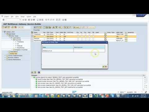 SAP Gateway Create Odata service using RFC
