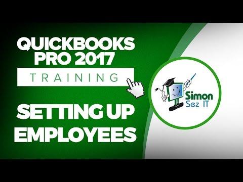 QuickBooks Pro 2017 Tutorial: Setup Employees for Payroll